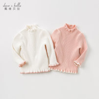 Sweater / sweater 73/18M 80/24M 90/3Y 100/4Y 110/5Y 120/6Y 130/7Y other female Pink [spot] white [spot] Pink - pre-sale white - pre-sale DAVE&BELLA Europe and America Single breasted routine Crew neck nothing Fine wool Solid color Other 100% DBM11399 Class A Long sleeves Autumn 2020 spring and autumn