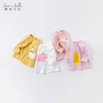 T-shirt White [spot] yellow [spot] pink [spot] clip purple [spot] Pink - pre-sale white - pre-sale clip purple - pre-sale yellow - pre-sale DAVE&BELLA female spring and autumn Long sleeves Crew neck Europe and America cotton Cartoon animation Other 100% DBM15975 Class A Spring 2021