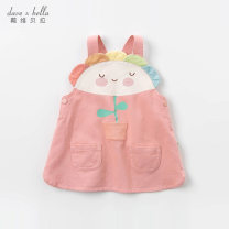 Dress Grey Pink [spot] Grey Pink - pre sale female DAVE&BELLA Other 100% spring and autumn Europe and America Cartoon animation cotton DBZ13318 Class A Autumn 2020 12 months 18 months 2 years 3 years 4 years 5 years old