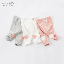 trousers DAVE&BELLA female 73cm 80cm 90cm 100cm 110cm 120cm 130cm White [spot] pink [spot] grey [spot] white - pre sale Pink - pre sale grey - pre sale spring and autumn trousers Europe and America No model Casual pants Leather belt middle-waisted other Other 100% DBM16966 DBM16966 Spring 2021