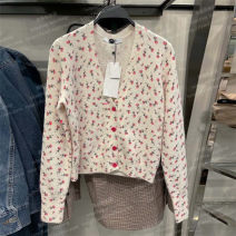 Wool knitwear Spring 2021 S,M,L Rose Long sleeves singleton  Cardigan other 31% (inclusive) - 50% (inclusive) have cash less than that is registered in the accounts routine Sweet Plants and flowers UR HM ZARA solar system