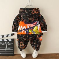 suit Other / other male spring motion Long sleeve + pants 2 pieces routine No model Zipper shirt No detachable cap letter cotton children Expression of love Class B Other 100% Chinese Mainland Zhejiang Province Huzhou City