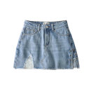 skirt Summer 2020 XS,S,M,L Black, blue Short skirt High waist skirt Solid color 25-29 years old JG   BT010050