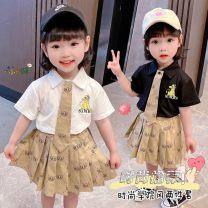 Fashion suit Summer 2021 80,90,100,110,120,130 White, black Under 17 Other / other ZLJTQ210058 71% (inclusive) - 80% (inclusive) cotton