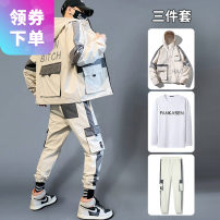 Jacket Other / other Youth fashion M. L, XL, 2XL, 3XL, 4XL, collection plus purchase priority delivery routine easy Other leisure spring 763335JK-123 Polyester 100% Long sleeves Wear out Hood tide youth routine Zipper placket Cloth hem No iron treatment Closing sleeve Geometric pattern More than 95%