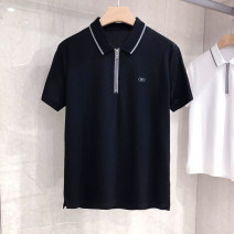 Polo shirt Other / other Fashion City routine Black, white M,L,XL,2XL,3XL standard Other leisure summer Short sleeve Simplicity in Europe and America routine youth Regenerated cellulose fiber 32% cotton 31% polyester 31% polyurethane elastic fiber (spandex) 6% 2021 Solid color other other Embroidery
