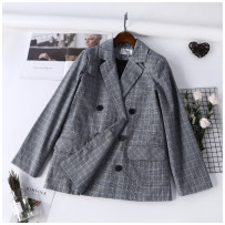 short coat Autumn of 2018 Average size Orange and blue Long sleeves routine routine singleton  easy commute routine tailored collar double-breasted 18-24 years old 31% (inclusive) - 50% (inclusive) B0908343
