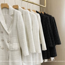 short coat Spring 2021 S,M,L,XL Long sleeves Medium length routine singleton  Straight cylinder commute routine tailored collar double-breasted lattice 25-29 years old Home only 96% and above other