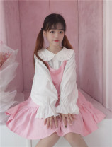 Dress Autumn of 2018 Pink, 1403 black Average size Sweet other