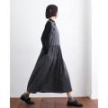 Dress Spring 2021 Dark grey M,L,XL Mid length dress singleton  Sleeveless Crew neck Loose waist Solid color Big swing Type A 81% (inclusive) - 90% (inclusive) wool