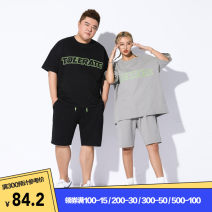 T-shirt Youth fashion routine XL 2XL 3XL 4XL 5XL 6XL THE PANG Short sleeve Crew neck easy daily summer Cotton 100% Large size routine tide Sweat cloth Summer 2020 other printing other other Pure e-commerce (online only)