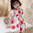 Dress Red, yellow female Other / other 7(90cm),9(100cm),11(110cm),13(120cm),15(130cm) Other 100% summer Korean version Short sleeve other other 2 years old, 3 years old, 4 years old, 5 years old, 6 years old