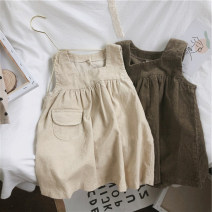 Dress Beige, brown female Other / other 7(90cm),9(100cm),11(110cm),13(120cm),15(130cm) Other 100% spring and autumn Korean version Strapless skirt Solid color other other 2 years old, 3 years old, 4 years old, 5 years old, 6 years old