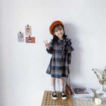 Dress Blue, brown female Other / other 7(90cm),9(100cm),11(110cm),13(120cm),15(130cm) Other 100% spring and autumn Korean version Long sleeves other other other 2 years old, 3 years old, 4 years old, 5 years old, 6 years old Chinese Mainland
