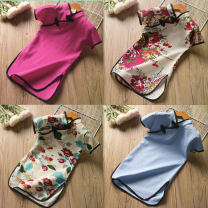 Dress Rose, light blue, safflower, blue female Other / other 7(90cm),9(100cm),11(110cm),13(115cm),15(125cm) Other 100% summer Short sleeve other other 2 years old, 3 years old, 4 years old, 5 years old, 6 years old