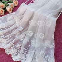 Fabric / fabric / handmade DIY fabric Netting Cotton + soft net, milk silk + Organza, cotton + transparent net, cotton + soft net, cotton + light yarn Loose shear piece Plants and flowers other clothing Countryside LQ-033# Guangdong Province Guangzhou City Chinese Mainland