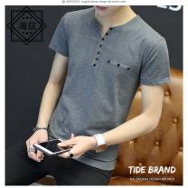 T-shirt Youth fashion thin M L XL XXL XXXL XXXXL 5XL Haizi Short sleeve High collar Self cultivation go to work summer Triacetate fiber (triacetate fiber) 100% Summer 2017 other