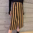 skirt Summer 2021 1/XS,2/S,3/M,4/L,5/XL yellow Mid length dress sexy High waist skirt stripe Type H 5200169-1P11553-001 91% (inclusive) - 95% (inclusive) Brother amashsin polyester fiber