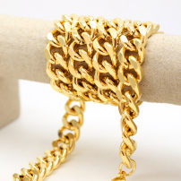 Necklace Mixed materials 51-100 yuan Other / other 18mm wide 1m long / 24K Gold Plated brand new Europe and America lovers goods in stock no all sorts of strange things 81cm and above no nothing Not inlaid Snake bone chain