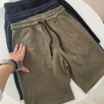 Casual pants Others Fashion City Black, army green, Tibetan green S,M,L,XL,2XL Shorts (up to knee) motion Straight cylinder summer