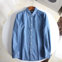 shirt Fashion City Others S,M,L,XL,2XL blue routine Button collar Long sleeves standard daily autumn cotton