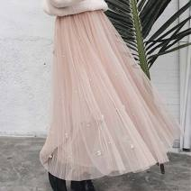 skirt Winter 2020 Average size White, pink Mid length dress fresh High waist A-line skirt Solid color Type A 25-29 years old 91% (inclusive) - 95% (inclusive) Crepe de Chine Other / other Chloroprene Hollow out, lace, cloth 81g / m ^ 2 (including) - 100g / m ^ 2 (including)