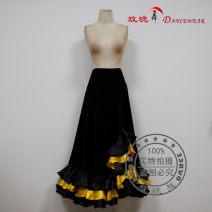 Modern dance bottom female Marrosa / marosa Black Phnom Penh, black pink S. M, l, larger skirt Waltz, tango, Foxtrot, trot other