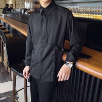 shirt Youth fashion Others S,M,L,XL,2XL,3XL White, black routine Pointed collar (regular) Long sleeves easy go to work spring teenagers Polyester 92.9% polyurethane elastic fiber (spandex) 7.1% Youthful vigor 2021 Solid color Color woven fabric No process polyester fiber Decorative loop