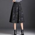 skirt Winter of 2019 M / 21 2 feet, L / 22 2 feet 1, XL / 23 2 feet 2, XXL / 24 2 feet 3, 3XL 2 feet 4, 4XL 2 feet 5 Hongge, gingko, deciduous Mid length dress commute High waist A-line skirt Decor Type A 91% (inclusive) - 95% (inclusive) knitting Chen Biao polyester fiber pocket Korean version