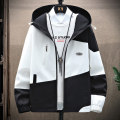 Jacket Semir / SEMA Youth fashion Black, gray, green, pink M,L,XL,2XL,3XL routine standard Other leisure spring and autumn gd66558 Polyester 100% Long sleeves Wear out Hood Youthful vigor teenagers routine Zipper placket 2021 Straight hem No iron treatment Closing sleeve Color block polyester fiber