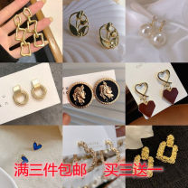 Earrings Alloy / silver / gold RMB 1.00-9.99 Other / other brand new female Japan and South Korea goods in stock all sorts of strange things Alloy inlaid artificial gem / semi gem Stars / sun / Moon / clouds / universe