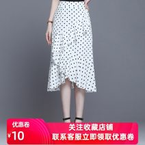 skirt Summer 2020 M waist 2'0 / 27, 4XL waist 2'5 / 32, l waist 2'1 / 28, 2XL waist 2'3 / 30, 3XL waist 2'4 / 31, XL waist 2'2 / 29 White. Black Short skirt commute other Dot 25-29 years old 81% (inclusive) - 90% (inclusive) Chiffon other Splicing, Auricularia auricula