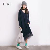 Dress Fall 2017 Gray, dark blue, black, ginger, coffee, dark apricot, grey pink Average size Eal M10