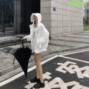 short coat Spring of 2019 Average size White spot Long sleeves routine routine singleton  easy Versatile routine Hood zipper Solid color Other / other 96% and above WT19001 polyester fiber polyester fiber