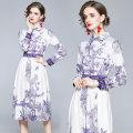 Dress Autumn 2020 Decor S,M,L,XL,2XL,3XL Miniskirt singleton  Long sleeves Type A