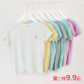 T-shirt Other / other 90, 100, 110, 120, 130, 140, 150, 160 neutral summer Short sleeve Crew neck leisure time No model nothing cotton Solid color Modal fiber (modal) 95% polyurethane elastic fiber (spandex) 5% Class A other Chinese Mainland Shandong Province Qingdao