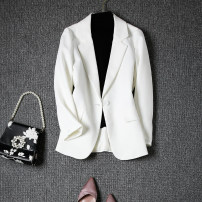 suit Spring 2021 White (spring), white (winter), black (winter), black (spring), light blue (spring), white (summer), white (summer), medium sleeve), light apricot (spring), cherry powder (spring) XS,S,M,L,XL,2XL Long sleeves routine Self cultivation tailored collar commute routine F552
