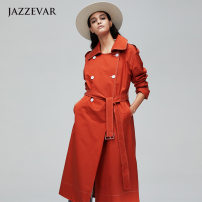 Windbreaker Autumn of 2019 S,XL,L,M Grey, orange red Long sleeves routine have more cash than can be accounted for commute double-breasted other routine Solid color Self cultivation 25-29 years old Lace, strap, fold, epaulet 81% (inclusive) - 90% (inclusive) other cotton polyester fiber