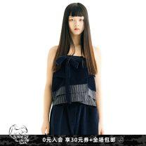 skirt Winter of 2018 XXS XS S M navy blue Short skirt Natural waist A-line skirt 25-29 years old B18FW0311 More than 95% Babygost / North Gauss cotton Cotton 100%