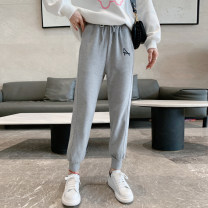 Casual pants grey S,M,L Spring 2021 Ninth pants Haren pants High waist street routine 25-29 years old 91% (inclusive) - 95% (inclusive) LNXZ0211B18 other pocket Europe and America