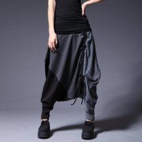 Casual pants Picture color Average size (recommended 80-135 kg) Haren pants Natural waist commute routine 81% (inclusive) - 90% (inclusive) K2 Leading the trend cotton Korean version Collage