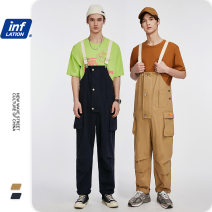 Casual pants inflation Youth fashion khaki , Royal Blue S,XL,L,M routine trousers Other leisure easy Micro bomb 3027S20 spring teenagers American leisure 2019 middle-waisted Straight cylinder straps Pocket decoration Solid color other