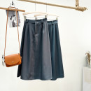 skirt Winter 2020 Average size Army green, navy blue, treasure blue, grey, black, dark coffee Mid length dress Versatile High waist A-line skirt Solid color Type A 71% (inclusive) - 80% (inclusive) other other Pleats, buttons, zippers