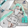 Cosplay women's wear suit Pre sale Over 14 years old Chuyin patent leather suit + earphone + glove, birdcage skirt, patent leather boots (take note, size 35-40) game 50. M, s, XL, one size fits all Meimeng workshop Japan Lovely wind, imperial sister fan, otaku department Hatsune Miku Meimeng workshop