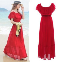 Dress Summer 2021 White, black, pink, red, yellow, light blue, blue, black bottom rose, rosy green, yellow sunflower, apricot blossom, green safflower, peach blossom red, cucumber powder, green sunflower, yellow red flower, yellow bottom orchid, pink orchid, black background saffron, small orchid.