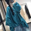 shirt Rose, blue, green, white Average size Spring 2020 hemp 81% (inclusive) - 90% (inclusive) Long sleeves Original design Regular stand collar Single row multi button routine Solid color SX2011 hemp