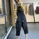 Casual pants Black, dark blue, camel Average size Autumn 2020 trousers rompers High waist commute routine 96% and above XR80662 cotton Korean version pocket cotton