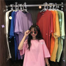 Dress Summer 2021 M,L,XL,2XL Short skirt singleton  Short sleeve commute Crew neck Loose waist Solid color Socket routine 18-24 years old Type H Other / other Korean version 31% (inclusive) - 50% (inclusive)