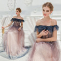 Dress / evening wear Wedding, adulthood, party, company annual meeting, performance, daily life XXL,XXXL,XS,S,M,L,XL navy blue fashion longuette middle-waisted Autumn 2020 Self cultivation One shoulder Bandage Netting 18-25 years old Short sleeve Angel wedding dress 96% and above