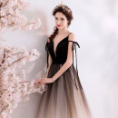 Dress / evening wear Wedding, adulthood, party, company annual meeting, performance XXL,XXXL,XS,S,M,L,XL sexy longuette middle-waisted Autumn 2020 Self cultivation Deep collar V Bandage Netting 18-25 years old Sleeveless Angel wedding dress 96% and above